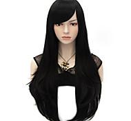 Недорогие -Парики из искусственных волос Прямой Естественный прямой плотность Жен. Карнавальный парик Парик для Хэллоуина Очень длинный