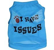 economico -Gatto Cane T-shirt Abbigliamento per cani Lettere & Numeri Rosso Blu Rosa Terylene Costume Per animali domestici Cosplay