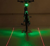 Bike Lights LED Light Bulbs Rear Bike Light Laser LED - Cycling LED Light Color-Changing Warning Laser AAA 400 Lumens Battery Cycling/Bike