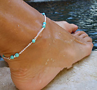 Women's Anklet/Bracelet Copper Emerald Turquoise Unique Design Fashion Costume Jewelry Jewelry Jewelry For Daily Casual Sports