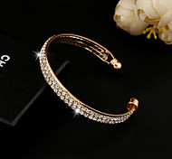 cheap -Crystal Rhinestone Austria Crystal 18K Gold Cute Others Cuff Bracelet - Unique Design Vintage Party Gold Silver Bracelet For Christmas