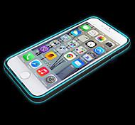 Недорогие -вызов привел мигать прозрачный Вернуться ТПУ чехол для Iphone 6 плюс (ассорти цветов)