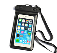 cheap -Case For iPhone 6s Plus iPhone 6 Plus Universal Waterproof with Windows Pouch Bag Solid Color Soft PC for