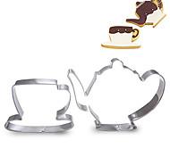 Недорогие -2 шт набор стакане воды и чайник форма Формочки фруктовых срезанных форм из нержавеющей стали