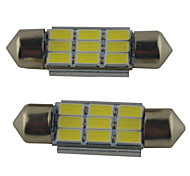 cheap -2pcs 39mm / 36mm / 41mm Car Light Bulbs 2W SMD 5630 215lm 9 Reading Light