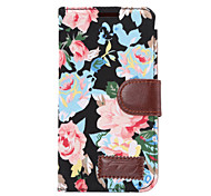 For HTC One M9 M8 Mini Case Cover Flowers PU Leather Mobile Phone Holster