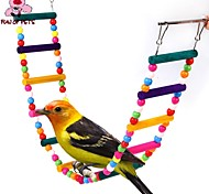 FUN OF PETS®Length 80cm Colorful Climbing Ladders with Beads  for Birds