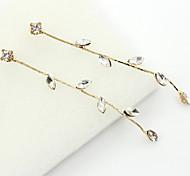 Pendientes colgantes Cristal Brillante Chapado en Oro 18K de oro La imitación de diamante Moda Dorado Joyas 2 piezas