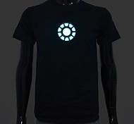 bateria recarregável incluída acender led t-shirt homem um som ajustável ferro el ativado e vários modos de flash