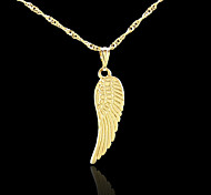18K Real Golden Plated Angel Wings Pendant Necklace