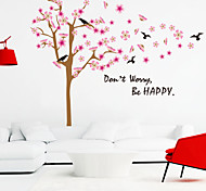 wall stickers da parete in stile decalcomanie essere felici parole inglesi&cita adesivi murali in pvc