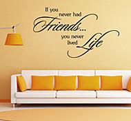 adesivos de parede adesivos de parede amigos estilo palavras em inglês&cita parede adesivos pvc