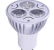 1pc 6w gu10 led spotlight 3 высокой мощности привели 400lm теплый белый холодный белый декоративный ac85-265v