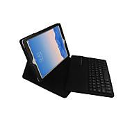 cheap -Case For iPad Air 2 with Stand with Keyboard Flip Full Body Cases Solid Color Hard PU Leather for