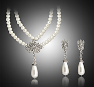 cheap -Women's Pearl Jewelry Set Earrings / Necklace - White Jewelry Set For Wedding / Party / Birthday