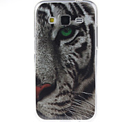 White Tiger Pattern TPU Soft Case for Samsung GALAXY CORE Prime G360/G3608