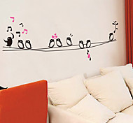Недорогие -Животные Музыка Мультипликация Наклейки Наклейки для животных Декоративные наклейки на стены, Винил Украшение дома Наклейка на стену Стена