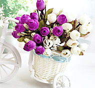 baratos -alta qualidade da flor artificial cor brilhante flor de seda rosebud para o casamento e decorativo