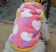 Katze Hund T-shirt Hundekleidung Cosplay Hochzeit Herzen Schwarz Rosa Kostüm Für Haustiere