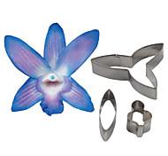 abordables -quatre c coupe dendrobium orchidée pétale de fleur, des outils de décoration de gâteau fondant outils de coupe accessoires moule à