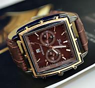 cheap -Men's Watch Dress Watch Calendar Rectangle Dial Wrist Watch Cool Watch Unique Watch Fashion Watch