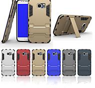 Недорогие -Для Кейс для  Samsung Galaxy Защита от удара / со стендом Кейс для Задняя крышка Кейс для Армированный PC SamsungS6 edge plus / S6 edge /