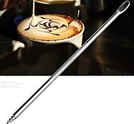 baratos -café inoxidável agulha de crochê vara esculpida flores pintadas agulha café extravagante esculpido (1 pcs)
