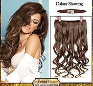 5 роликов волнистые мед-коричневый (# 12) синтетический зажим для волос в волос расширений для дам больше цветов, доступных