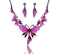 Women's Wedding Party Daily Casual Alloy Butterfly Animal Earrings Necklaces