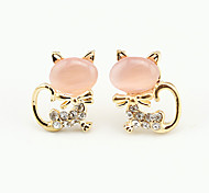 Women's Stud Earrings Cute Style European Costume Jewelry Cubic Zirconia Platinum Plated Animal Shape Jewelry For Party Daily