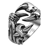 Ring Stainless Steel Titanium Steel Fashion Silver Jewelry Halloween Daily Casual Sports 1pc