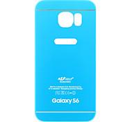 брони розовый и голубой металл + ТПУ задняя крышка чехол для Samsung Galaxy S6 / s6 края
