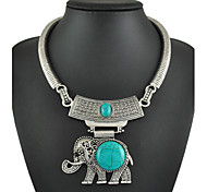 cheap -Women's Elephant Animal Party Casual Fashion Resin Turquoise Alloy , Special Occasion Birthday Gift