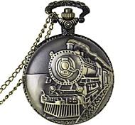 baratos -Homens Quartzo Relógio de Bolso Relógio Casual Lega Banda Amuleto Bronze