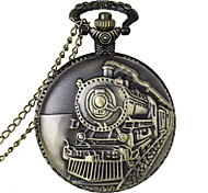 cheap -Men's Quartz Pocket Watch Casual Watch Alloy Band Charm Bronze