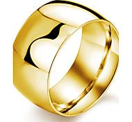 Недорогие -нержавеющая сталь покрытие 24 k золотой мужской кольцо классический женский стиль
