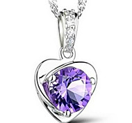 cheap -Women's Crystal Sterling Silver Pendant Necklace - Fashion Necklace For Wedding Party Daily Casual