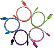 yellowknife IMF manzana certificada rayo al cable del USB para el iphone trenza multicolor 7 6s 5s Plus SE / sincronización y carga de ipad