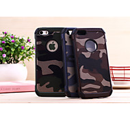 cheap -Case For iPhone 5 Apple iPhone 5 Case Shockproof Back Cover Camouflage Color Hard PC for iPhone SE/5s iPhone 5