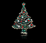 Рождественская елка брошь