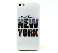 New York City Pattern TPU Soft Case for iPhone 5/5S iPhone Cases