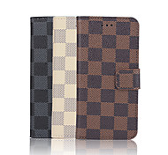 For iPhone 7 Plus 4.7 Inch Grid Pattern High Quality Luxury PU Wallet Leather Case for iPhone 6s 6 Plus