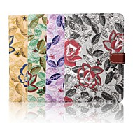 7.9 Inch Embroidery Pattern Canvas Wallet Leather Case with Stand for iPad Mini 4