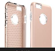 Недорогие -высокое качество так здорово противоскользящие ТПУ + PC задняя крышка для iPhone 6 / 6с (ассорти цветов)