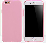 cheap -Case For iPhone 5 Apple iPhone 5 Case Other Back Cover Solid Color Soft TPU for iPhone SE/5s iPhone 5