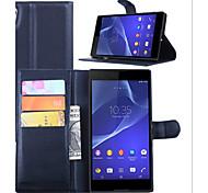 cubierta de la carpeta de tarjeta en relieve para el soporte sony sony xperia teléfono t3 móvil
