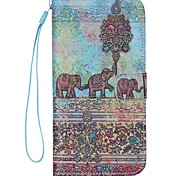 For iPhone 7 Plus Elephant Pattern high Quality Wallet Hand Rope Section Phone Case for iPhone 6/6S