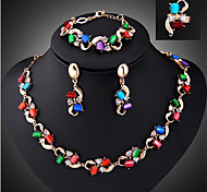 Women's Jewelry Set Vintage Party Link/Chain Fashion European Party Special Occasion Anniversary Birthday Gift Synthetic Gemstones Cubic