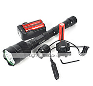 5 LED Flashlights / Torch LED 4800 lm 5 Mode Cree XM-L T6 Impact Resistant Rechargeable Waterproof Emergency Strike Bezel Tactical for
