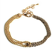 Europestyle Fashion Double Row Chain Joint Alloy Bracelet
